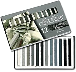 Cretacolor Square Watersoluble Hard Pastel Grey Set of 12