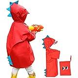 Impermeable niño unisex capa de lluvia, diseño de tiburón Ponchos chicos niñas abrigo impermeable con capucha y visera ligero