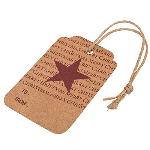 Weihnachten Hängen Tags Mit Jute-Schnur Für Diy Craft Supply, Party Favor, Geburtstag, Thanksgiving, Grußkarten -Packungung mit 100