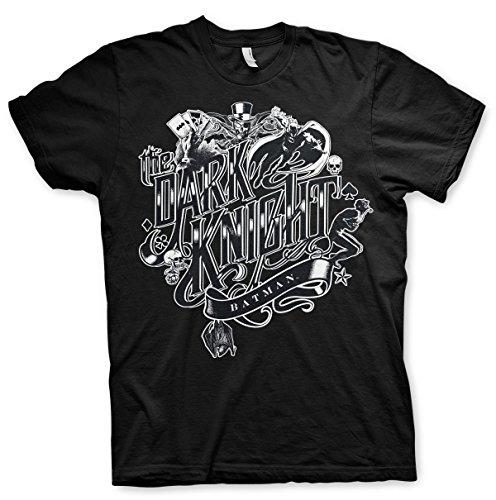Offizielles Lizenzprodukt Inked Dark Knight T-Shirt (Schwarz), X-Large