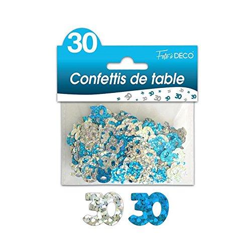 Liste de prix CONFETTIS DE TABLE 30 ANS BLEUE ARGENT