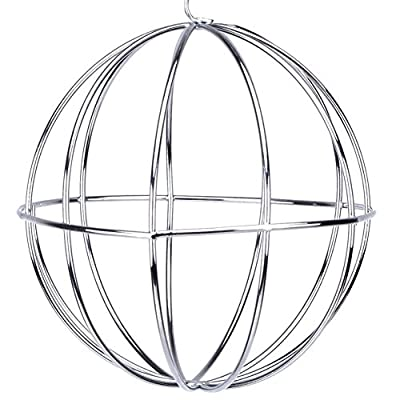 Wishwin Pet Supplies Hay Manger Food Ball Stainless Steel Plating Grass Rack Ball for Rabbit Guinea Pig Pet Hamster Supplies by Wishwin