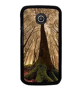 Fuson Designer Back Case Cover for Motorola Moto E :: Motorola Moto E XT1021 :: Motorola Moto E Dual SIM :: Motorola Moto E Dual SIM XT1022 :: Motorola Moto E Dual TV XT1025 (Trees Fallen Leaves Red Leaves Branches Woods)