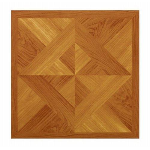 MAX CO LTD Parquet Peel & Stick Vinyl Floor Tile, 12 x 12-In.