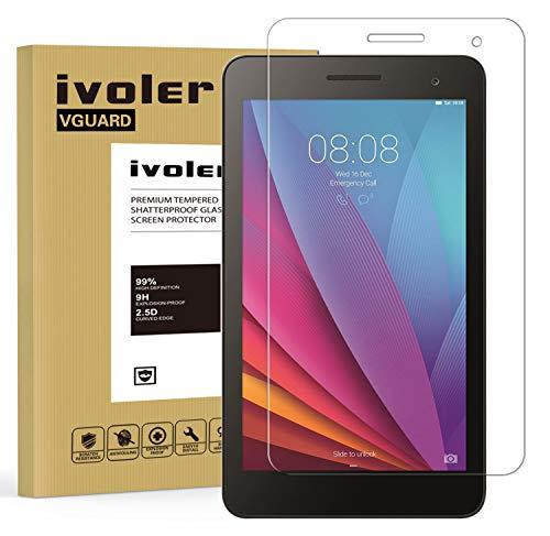 iVoler Huawei MediaPad T1 7.0 Panzerglas Schutzfolie, 9H Härte, Anti- Kratzer, Bläschenfrei, 2.5D Runde Kante
