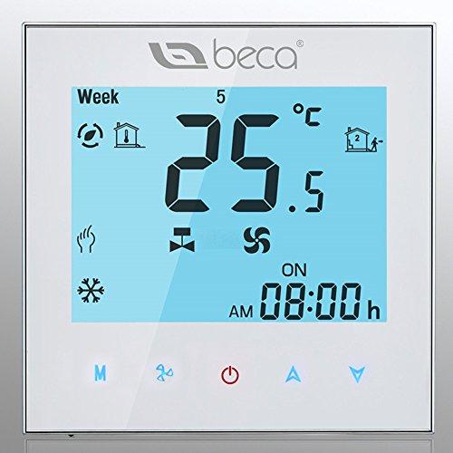 BECA Smart Thermostat, control de dos tuberías de calefacción / refrigeración LCD...
