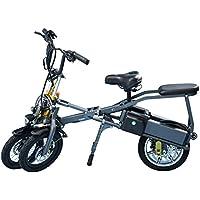 LANKELEISI JX003 B1STD - Patinete de bicicleta de triciclo plegable de 14
