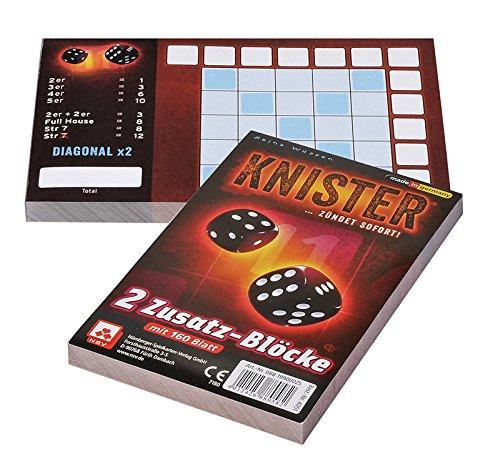 NSV - 4051 - KNISTER ZUSATZBLÖCKE (2er) - Würfelspiel
