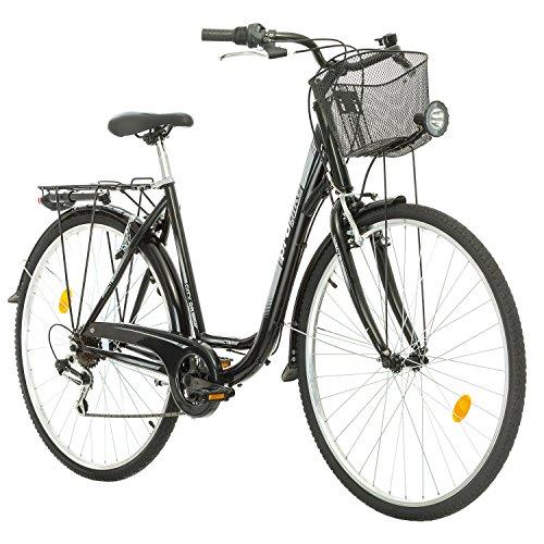 Multibrand Probike 28 City Zoll Fahrrad 7-Gang Urbane Cityräder for Heren, Damen, Unisex Schwarz 510 mm (Schwarz, 510)