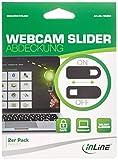 InLine Webcam Slider Abdeckung, schwarz, 2er Pack