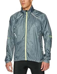 Ronhill Men's Vizion Microlite Jacket - Slate/Flou Yellow, Small