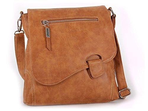 Bag Street - Bolso hombro mujer marrón coñac