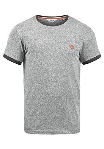 !Solid BennTee Herren T-Shirt Kurzarm Shirt Mit Print Und Rundhalsausschnitt Aus 100% Baumwolle, Größe:L, Farbe:Grey Melange (8236) -