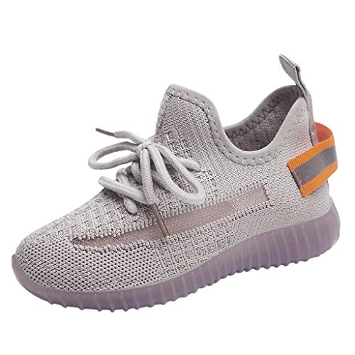 koperras Kinder Jungen und Mädchen Mesh fliegen gewebte Träger Sportschuhe leuchtende Schuhe Freizeitschuhe rutschfeste Mode-Trend