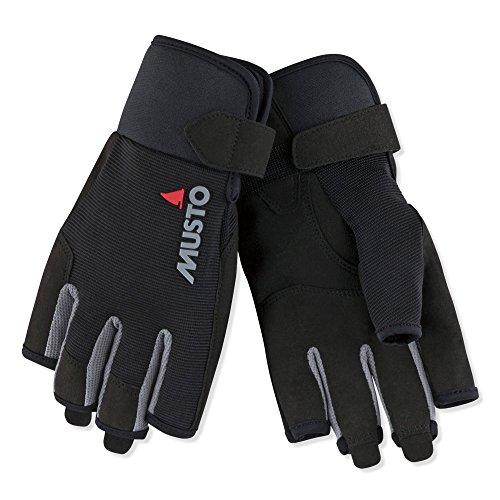 guanti barca a vela Musto Essential Short Finger Sailing Gloves - 2018 - Black L