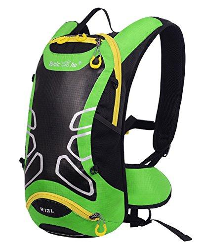 peiji Wasserdicht 12L Outdoor Wandern Fahrrad Radfahren Reiten Rucksack Packsack Tasche grün