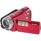 Caméra Caméscope,Besteker Portable Caméscope Vidéo Numérique HD Max 16 Mega Pixels 1280*720P DV avec 2,7 Pouces Écran TFT LCD 16x Caméra Zoom,Rouge