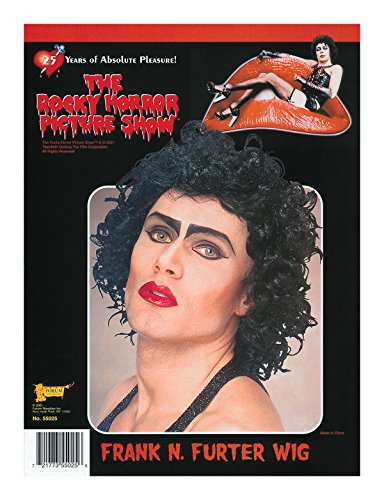 Herren Kostüm Halloween Party Frank 'n' Furter Lockig Shorts Künstliches Perücke Uk