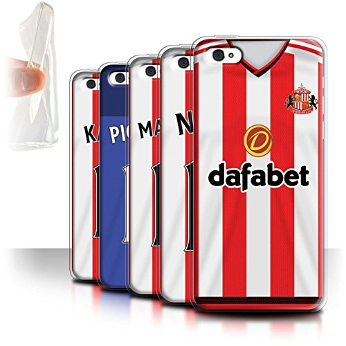 Offiziell Sunderland AFC Hülle / Gel TPU Case für Apple iPhone 5C / Pack 24pcs Muster / SAFC Trikot Home 15/16 Kollektion Pack 24pcs
