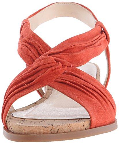 Nine West Manwella Daim Sandale Red orange