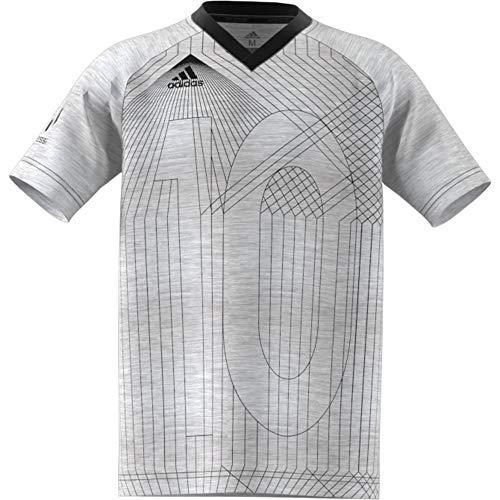 adidas Jungen Tee Kurzarm-Shirt, White, 176 -