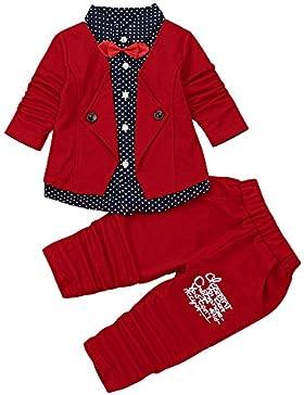 Babybekleidung,Resplend Baby Lange Ärmel Oberteile + Hosen Zweiteiliger Anzug Bowknot Streifen Mit Kapuze Hoodie...