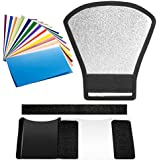 Neewer Flash Speedlite Diffuser And Filter Kit - Silver/White Reflector And 12 Pieces Color Filter For Canon Nikon Pentax Yongnuo Godox Sony Sigma Nissin Sunpak Speedlite