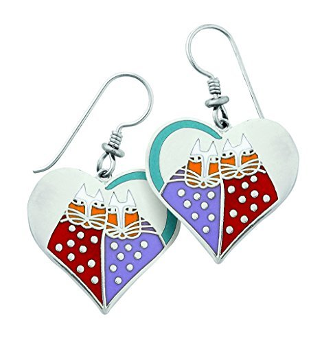 laurel-burch-red-sweethearts-cloisonn-drop-earrings-in-silver-finish