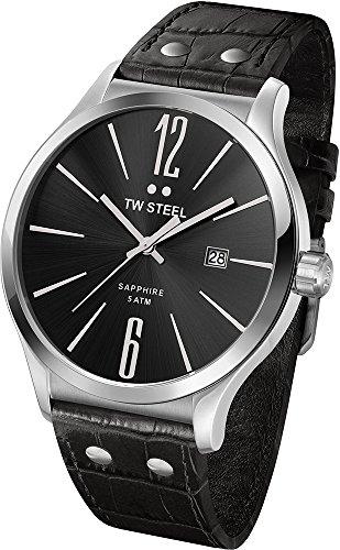 TW Steel - TW1300 - Montre Mixte - Quartz Analogique - Bracelet Cuir Noir