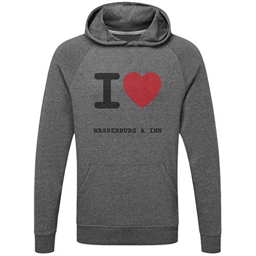 JOllify WASSERBURG A INN Funktions Pullover Hoodie mit hochwertigem Druck für Sport und Freizeit - Größe: S - Farbe: grau charcoal