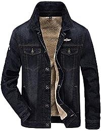 da9897e4ca915 Minetom Hommes Hiver Manches Longues Blouson Nouvelle Veste En Jean  Masculine Jacket Trucker Denim Épais Chaud