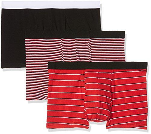 New Look Herren Badehose Gb Stripe Red (red Pattern)