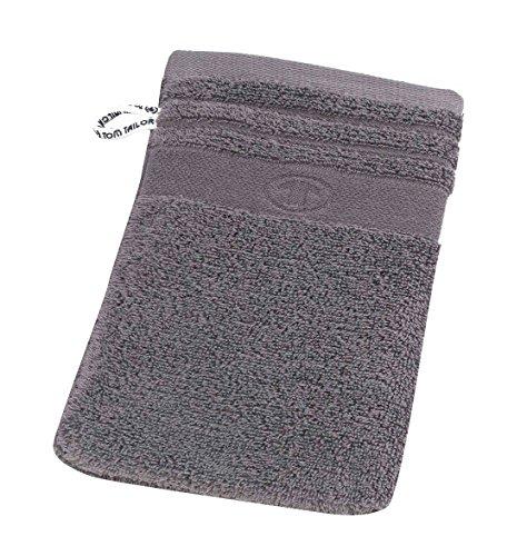 Tom Tailor 100111/900/770 - Telo da doccia in spugna, tinta unita, grigio, 16x22