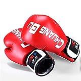 Ywlanlantrading Guanto Guantoni da Boxe Muay Thai Guanti da Masticare per Pugni Sparring Punzonatura Maya Nascondere in Pelle MMA, Kickboxing, Attrezzatura da Boxe da Allenamento (Color : Red)