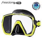 Tusa Freedom HD - tauchmaske schnorchelmaske erwachsene profi M-1001 - silikon schwarz, gelb
