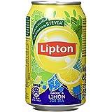Lipton Ice Tea Bebida Refrescante de Extracto de Té con Zumo de Limón con Azúcares y Edulcorante - 330 ml - [Pack de 8]