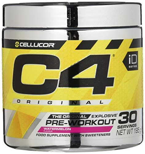 C4 Original - Pre-Workout-Pulver Wassermelone - Zuckerfreies Getränkepulver für Energy Drink - für Männer & Frauen - 150 mg Koffein + Beta-Alanin + Kreatin-Monohydrat - 30 Portionen