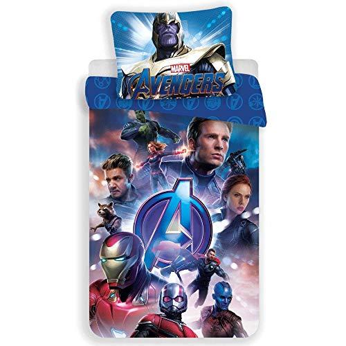 Marvel Avengers - Juego de Cama - Funda de edredón de algodón
