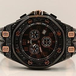 Aqua Master Royal Oak Mens Diamond Watch 8.50ctw W3254