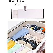 Ajustable cajón divisor Cómoda organizador de cocina de almacenamiento gabinete Tablilla 10,8 pulgadas (