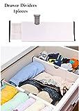 Verstellbarer Schubladenteiler Dresser Organizer Küche Aufbewahrungsschrank Clapboard 10,8 Zoll (heißeste) - 17 Zoll (längste) 1 Stücke Weiß (weiß)
