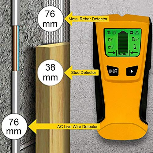 Eulan Stud Finder, Wireless Metal Detector and AC Live Wire Multi-Scanner, Wall Scanning Device with LCD Screen | High Precision, Long-Lasting and Lightweight Design Metal Detector Lcd