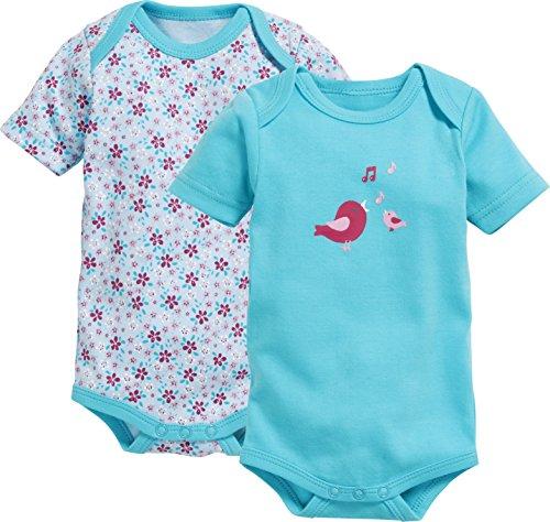Schnizler Baby-Mädchen Formender Body Kurzarm, 2er Pack Vögelchen, Oeko-Tex Standard 100,  Preisvergleich