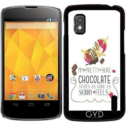 Hülle für Google Nexus 4 - Typografie Spaß Schokolade Liebe by UtArt