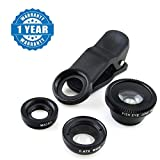 #7: Drumstone Universal 3 in 1 Magic Mobile Lens (Fish Eye, Wide angle, Macro) Lens Works with all Android or Iphone Devices (1 Year Warranty, Color May Vary)