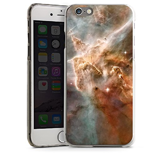 Apple iPhone 6 Housse Étui Silicone Coque Protection Étoiles Espace Motif CasDur transparent