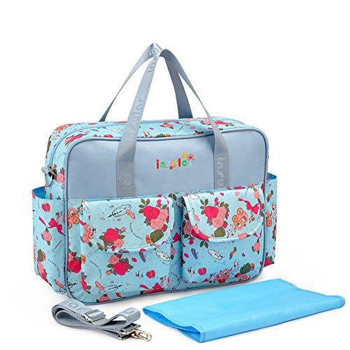 Kangming groß Baby Windel Windel Wickeltasche Floral Mummy Tote Schulter Tasche mit Wickelunterlage B