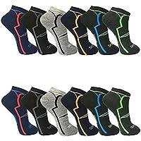 12paia di calze da uomo Sport Tempo libero Sneaker fuesslinge cotone 39-42; 43-46-bestsale247, Fantasia 1