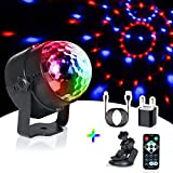 Luces Discoteca Bola,URAQT LED de Discoteca Luces con la ranura sin hilos de la tarjeta del mini altavoz de Bluetooth