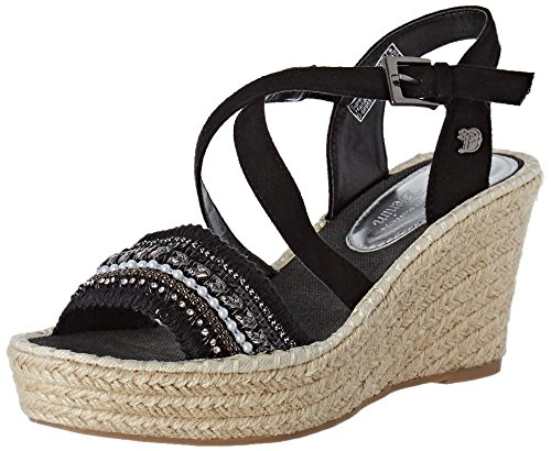 Tom Tailor 2796605, Sandales Bride Cheville Femme Noir (Black)